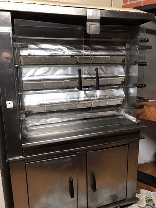Asador máquina de pollos