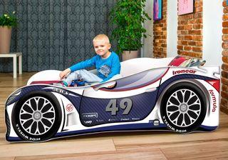 Cama infantil coche de carreras