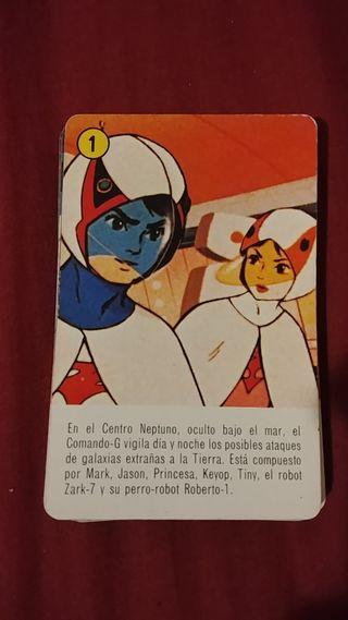 Comando G (Batalla de los planetas) cartas