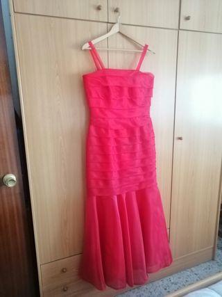 Vestido largo rojo. Nuevo.