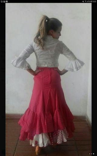 vestido flamenca traje gitana falda