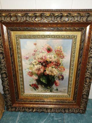 Importante bodegón de flores. Antonio Gisbert.