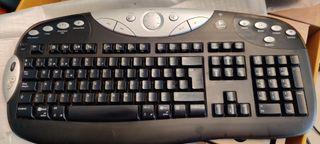 Raton y teclado Logitech Cordless Desktop MX