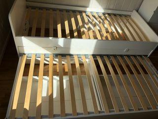 Cama nido con cajones de Ikea