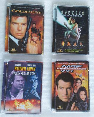 lote 4 DVDs James Bond, Species, Blown Away