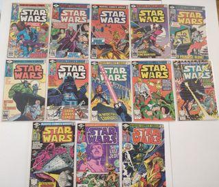 Lote de 13 cómics STAR WARS (1977-1986) Marvel