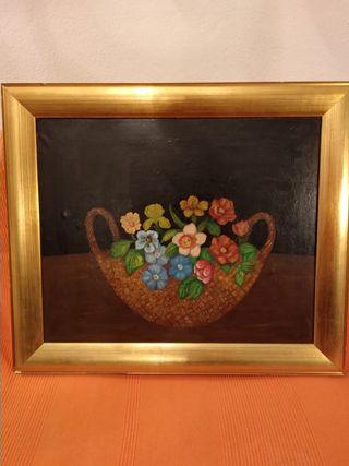 Bodegón de flores, artista desconocido.