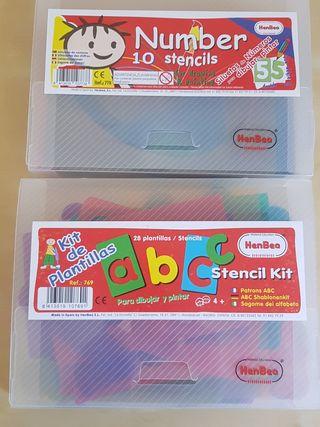 Platillas translúcida Pack de dos