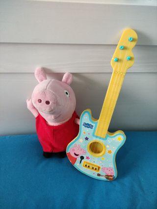 peluche Peppa pig+guitarra