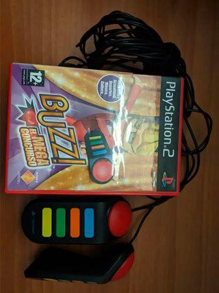 Juego Buzz para ps2 + mandos