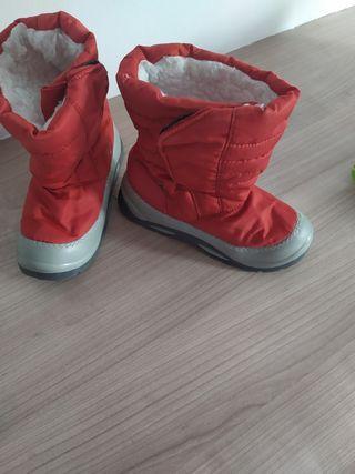 botas de nieve descanso