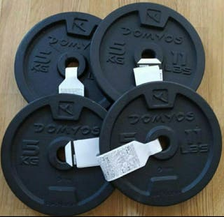4 discos de 5kg