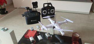 COMBO DRONE SYMA + CAMARA + GAFAS FPV + RECAMBIOS