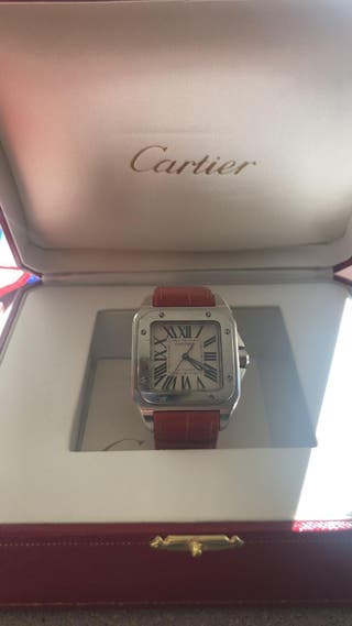 Cartier santos 100 con caja y papeles