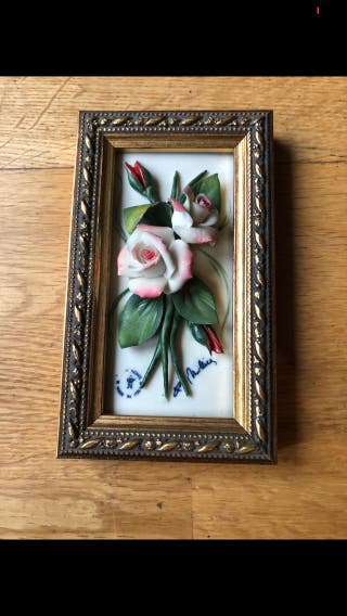 Cuadro floral artesanal