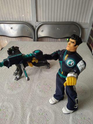 Action man con perro Robot + 2 Action man