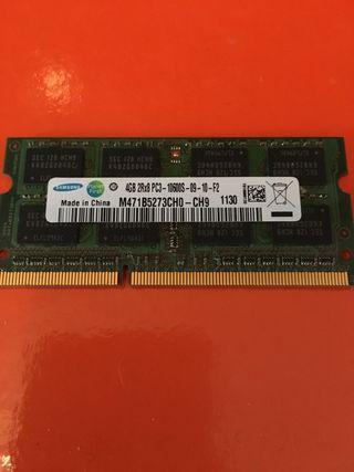 Memoria ram 4gb ddr3 Samsung