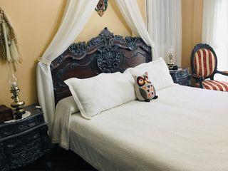 Dormitorio estilo barroco en madera maciza