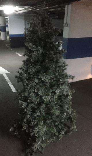 Árbol abeto de navidad nevado