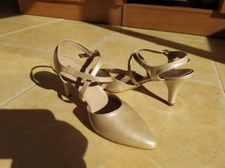 Zapatos Charol Nude 40