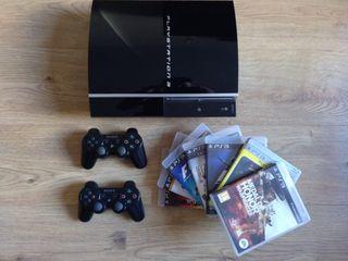 PS3 + 2 Mandos + 8 juegos