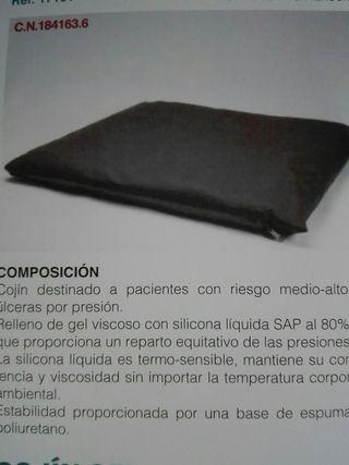 Cojín gel silicona cuadrado