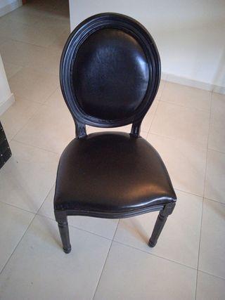 Silla Luis XV de polipiel