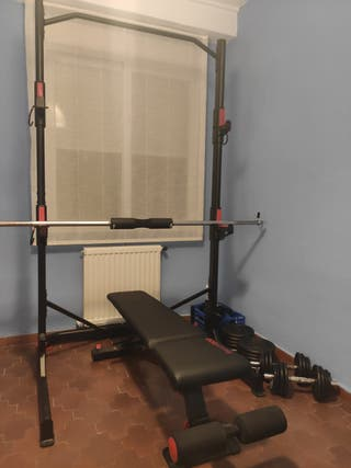 Rack Cross Training + Banco + Pesas + 84 kg