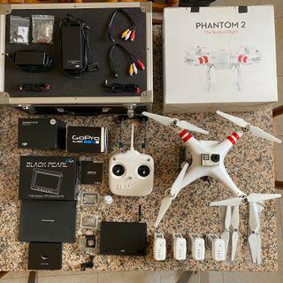 Drone DJI Phantom 2 + GoPro Hero 4