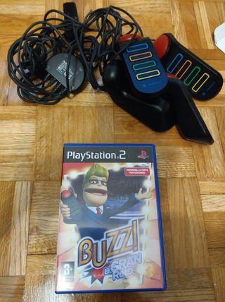 Juego Buzz mas mandos PS2