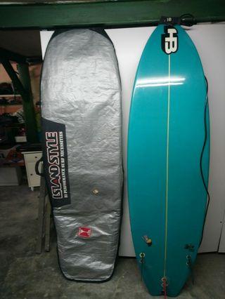 Tabla surf + traje de neopreno