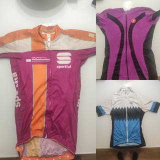 lote 3 Maillots ciclismo original castelli mujer