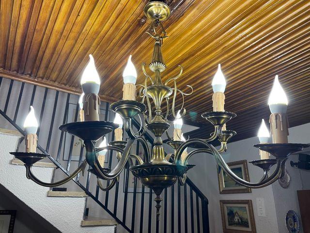 Lámpara de Araña de Bronce