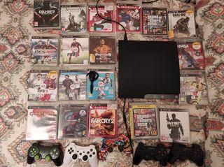 Vendo PS3 con juegos, mandos y accesorios