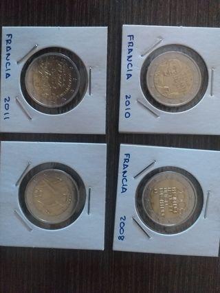 11 monedas 2€ conmemorativas de Francia