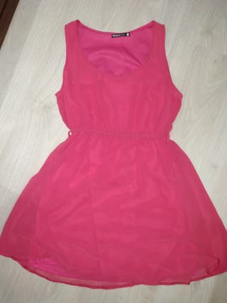 Vestido de gasa rosa