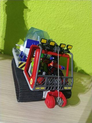 Playmobil transporte camión oruga exploradores.
