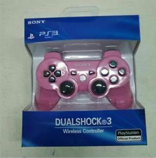 Mando sony rosa dualshock ps3