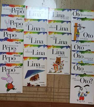 21 libros lectura Santillana Pepo, Lina y Oto