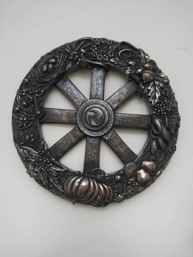 Wheel Of The Year Plaque 25cm