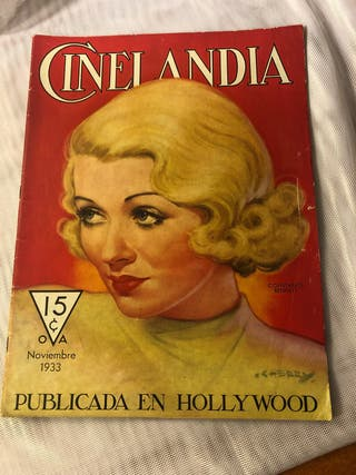 REVISTA ANTIGUA CINELANDIA NOVIEMBRE 1933