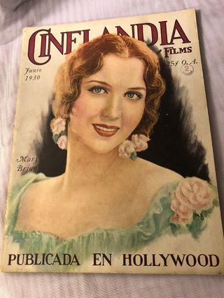 REVISTA ANTIGUA CINELANDIA JUNIO 1930