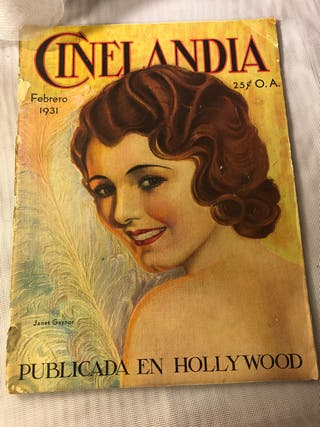 REVISTA ANTIGUA CINELANDIA FEBRERO 1931