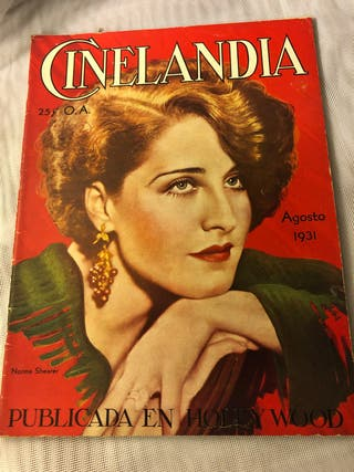 REVISTA ANTIGUA CINELANDIA AGOSTO 1931