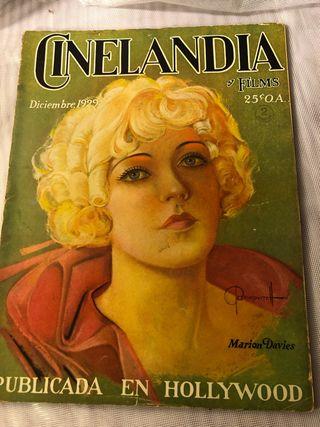 REVISTA ANTIGUA CINELANDIA DICIEMBRE 1929