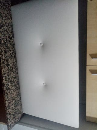 cabecero tapizado blanco