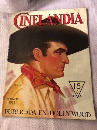 REVISTA ANTIGUA CINELANDIA DICIEMBRE 1932