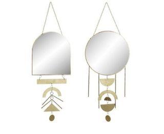 set 2 espejos decorativo de metal