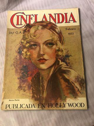 REVISTA ANTIGUA CINELANDIA FEBRERO 1932