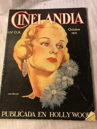 REVISTA ANTIGUA CINELANDIA OCTUBRE 1931